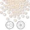 Bead, Swarovski crystal, Crystal Passions®, silk, 4mm faceted round (5000). Sold per pkg of 144 (1 gross).