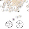 Bead, Swarovski crystal, Crystal Passions®, silk AB, 4mm faceted bicone (5301). Sold per pkg of 144 (1 gross).