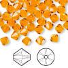 Bead, Swarovski crystal, Crystal Passions®, sun, 6mm faceted bicone (5301). Sold per pkg of 144 (1 gross).
