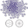 Bead, Swarovski crystal, Crystal Passions®, tanzanite, 3mm faceted round (5000). Sold per pkg of 144 (1 gross).