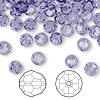Bead, Swarovski crystal, Crystal Passions®, tanzanite, 6mm faceted round (5000). Sold per pkg of 144 (1 gross).
