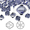 Bead, Swarovski crystal, Crystal Passions®, tanzanite, 8mm Xilion bicone (5328). Sold per pkg of 12.