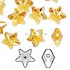 Bead, Swarovski crystal, Crystal Passions®, topaz, 12x12mm faceted star (5714). Sold per pkg of 4.
