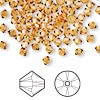 Bead, Swarovski crystal, Crystal Passions®, topaz, 4mm Xilion bicone (5328). Sold per pkg of 144 (1 gross).