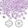 Bead, Swarovski crystal, Crystal Passions®, violet, 4mm Xilion bicone (5328). Sold per pkg of 144 (1 gross).