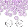 Bead, Swarovski crystal, Crystal Passions®, violet, 6mm faceted round (5000). Sold per pkg of 144 (1 gross).