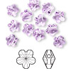 Bead, Swarovski crystal, Crystal Passions®, violet, 8x8mm faceted flower (5744). Sold per pkg of 12.