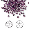 Bead, Swarovski crystal, amethyst, 3mm Xilion bicone (5328). Sold per pkg of 1,440 (10 gross).