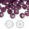 Bead, Swarovski crystal, amethyst, 8mm faceted round (5000). Sold per pkg of 144 (1 gross).