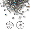 Bead, Swarovski crystal, black diamond AB, 3mm Xilion bicone (5328). Sold per pkg of 1,440 (10 gross).