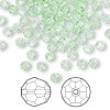 Bead, Swarovski crystal, chrysolite, 4mm faceted round (5000). Sold per pkg of 144 (1 gross).