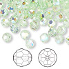 Bead, Swarovski crystal, chrysolite AB, 6mm faceted round (5000). Sold per pkg of 360.