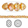 Bead, Swarovski crystal, crystal astral pink, 4x3mm faceted rondelle (5040). Sold per pkg of 720 (5 gross).