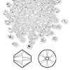 Bead, Swarovski crystal, crystal clear, 3mm Xilion bicone (5328). Sold per pkg of 1,440 (10 gross).