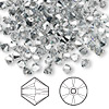 Bead, Swarovski crystal, crystal comet argent light, 4mm Xilion bicone (5328). Sold per pkg of 1,440 (10 gross).