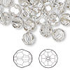 Bead, Swarovski crystal, crystal silver shade, 8mm faceted round (5000). Sold per pkg of 288 (2 gross).