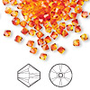 Bead, Swarovski crystal, fireopal, 4mm Xilion bicone (5328). Sold per pkg of 1,440 (10 gross).