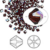 Bead, Swarovski crystal, garnet AB, 3mm Xilion bicone (5328). Sold per pkg of 144 (1 gross).
