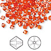 Bead, Swarovski crystal, hyacinth, 4mm Xilion bicone (5328). Sold per pkg of 144 (1 gross).