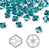 Bead, Swarovski crystal, indicolite, 6mm Xilion bicone (5328). Sold per pkg of 24.