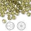 Bead, Swarovski crystal, khaki, 6mm faceted round (5000). Sold per pkg of 144 (1 gross).