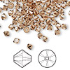 Bead, Swarovski crystal, light smoked topaz, 4mm Xilion bicone (5328). Sold per pkg of 48.