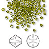 Bead, Swarovski crystal, olivine, 3mm Xilion bicone (5328). Sold per pkg of 1,440 (10 gross).