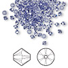 Bead, Swarovski crystal, tanzanite, 3mm Xilion bicone (5328). Sold per pkg of 1,440 (10 gross).