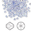 Bead, Swarovski crystal, tanzanite AB, 3mm Xilion bicone (5328). Sold per pkg of 1,440 (10 gross).