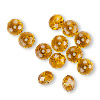 Bead, Swarovski crystal, topaz, 8x6mm faceted rondelle (5040). Sold per pkg of 12.