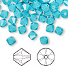 Bead, Swarovski crystal, turquoise, 6mm Xilion bicone (5328). Sold per pkg of 144 (1 gross).