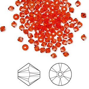 Bead, Swarovski® crystals, Crystal Passions®, hyacinth, 3mm Xilion bicone (5328). Sold per pkg of 48.