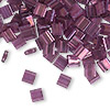 Bead, Tila®, glass, transparent luster light amethyst gold, (TL316), 5x5mm square with (2) 0.8mm holes. Sold per 10-gram pkg.