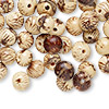 Bead, acai nut (natural), 8-10mm round. Sold per pkg of 50.