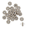 "Bead, antiqued ""pewter"" (zinc-based alloy), 6x2mm rondelle with dots. Sold per pkg of 24."