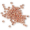 Bead, copper, 3mm smooth round. Sold per pkg of 100.