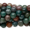 Bead, fancy jasper (natural), 8mm round, C grade, Mohs hardness 6-1/2 to 7. Sold per pkg of (10) 16-inch strands.