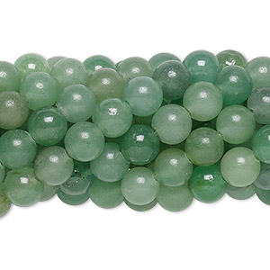 Bead, green aventurine (natural), 6mm round, C grade, Mohs hardness 7. Sold per pkg of (10) 16-inch strands.