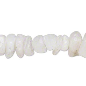 Bead, grey and snow quartz (natural), large chip, Mohs hardness 7. Sold per 16-inch strand. Minimum 5 per order.