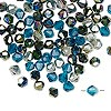 Bead mix, Celestial Crystal®, glass, ocean, 4mm faceted bicone. Sold per pkg of 100.