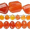 Bead mix, carnelian (dyed / heated), light to dark, 5x4mm-28x23mm hand-cut mixed shape, Mohs hardness 7. Sold per pkg of (3) 6-inch strands.