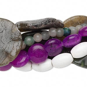 Bead mix, multi-gemstone (natural / dyed / manmade) and glass, mixed colors, 6-31mm mixed shape, C grade. Sold per pkg of (5) 16-inch strands.