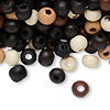 Bead mix, painted wood, mixed colors, 6-7mm irregular round. Sold per 90-gram pkg, approximately 1,100 beads.