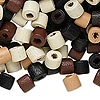 Bead mix, wood, mixed colors, 7x6mm heishi. Sold per 400-gram pkg, approximately 3,800 beads.