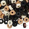 Bead mix, wood, mixed colors, 8x3mm rondelle. Sold per 90-gram pkg, approximately 900 beads.