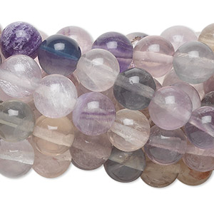 Bead, rainbow fluorite (natural), 8mm round, C grade, Mohs hardness 4. Sold per pkg of (10) 16-inch strands.