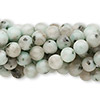 Bead, sesame jasper (natural), 6mm round, C grade, Mohs hardness 6-1/2 to 7. Sold per pkg of (10) 16-inch strands.