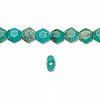 Bead, turquoise (dyed / stabilized), 6x6mm flat hexagon, B grade, Mohs hardness 5 to 6. Sold per 16-inch strand.