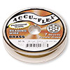 Beading wire, Accu-Flex®, 100% brass, 7 strand, 0.014-inch diameter. Sold per 30-foot spool.