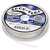 Beading wire, Accu-Flex®, .925 sterling silver, 49 strand, 0.019-inch diameter. Sold per 100-foot spool.